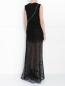 Платье-макси с кружевом и декоративными молниями Jay Ahr  –  Модель Верх-Низ1