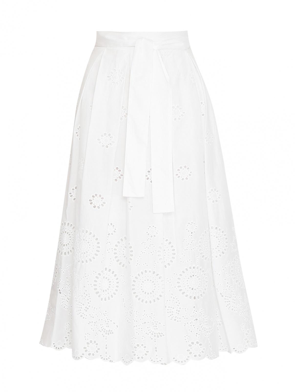 Юбка из хлопка с вышивкой Max&Co  –  Общий вид