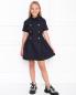Платье-рубашка с поясом Burberry  –  МодельОбщийВид