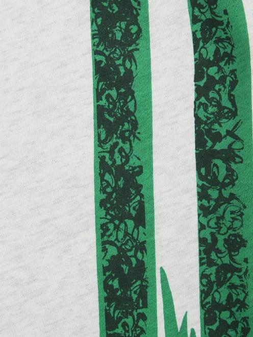 Брюки трикотажные с принтом Burberry - Деталь