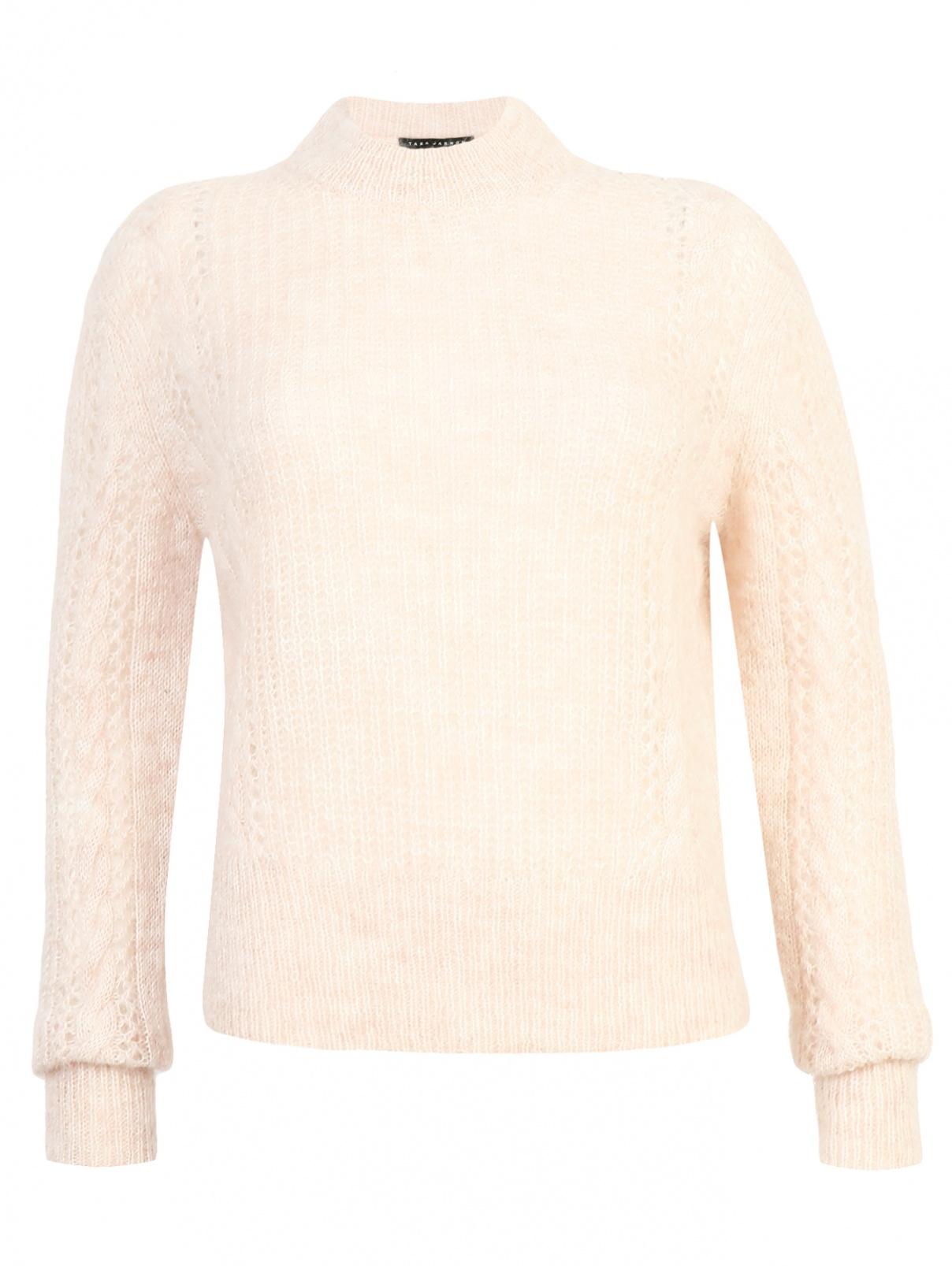 Джемпер из смешанной шерсти ажурной вязки Tara Jarmon  –  Общий вид
