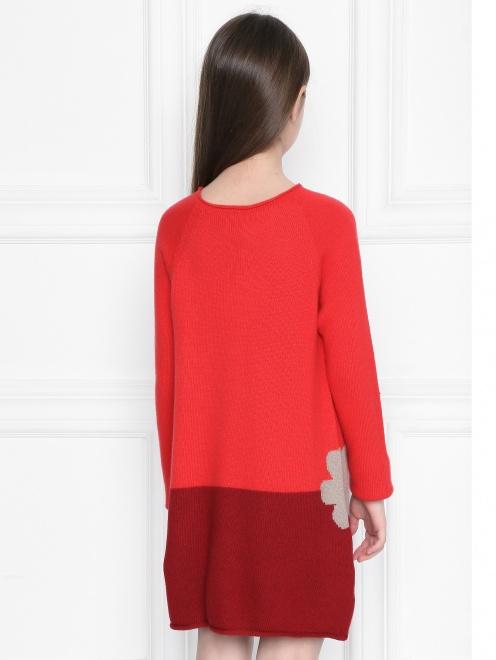 Платье из шерсти с круглым вырезом  - МодельВерхНиз1