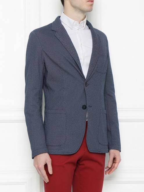 Пиджак из хлопка с узором - МодельВерхНиз