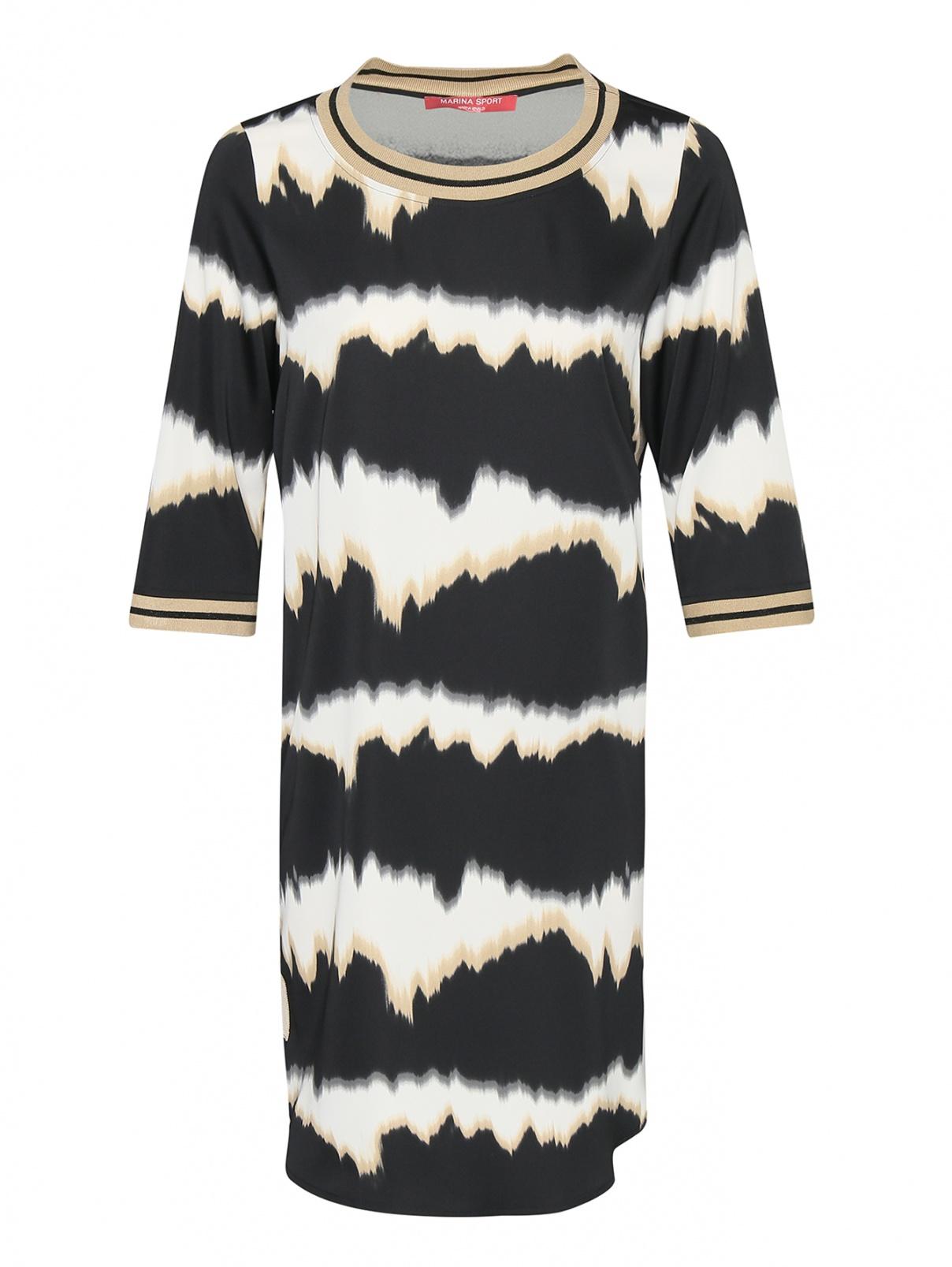 Платье прямого кроя с узором Marina Rinaldi  –  Общий вид