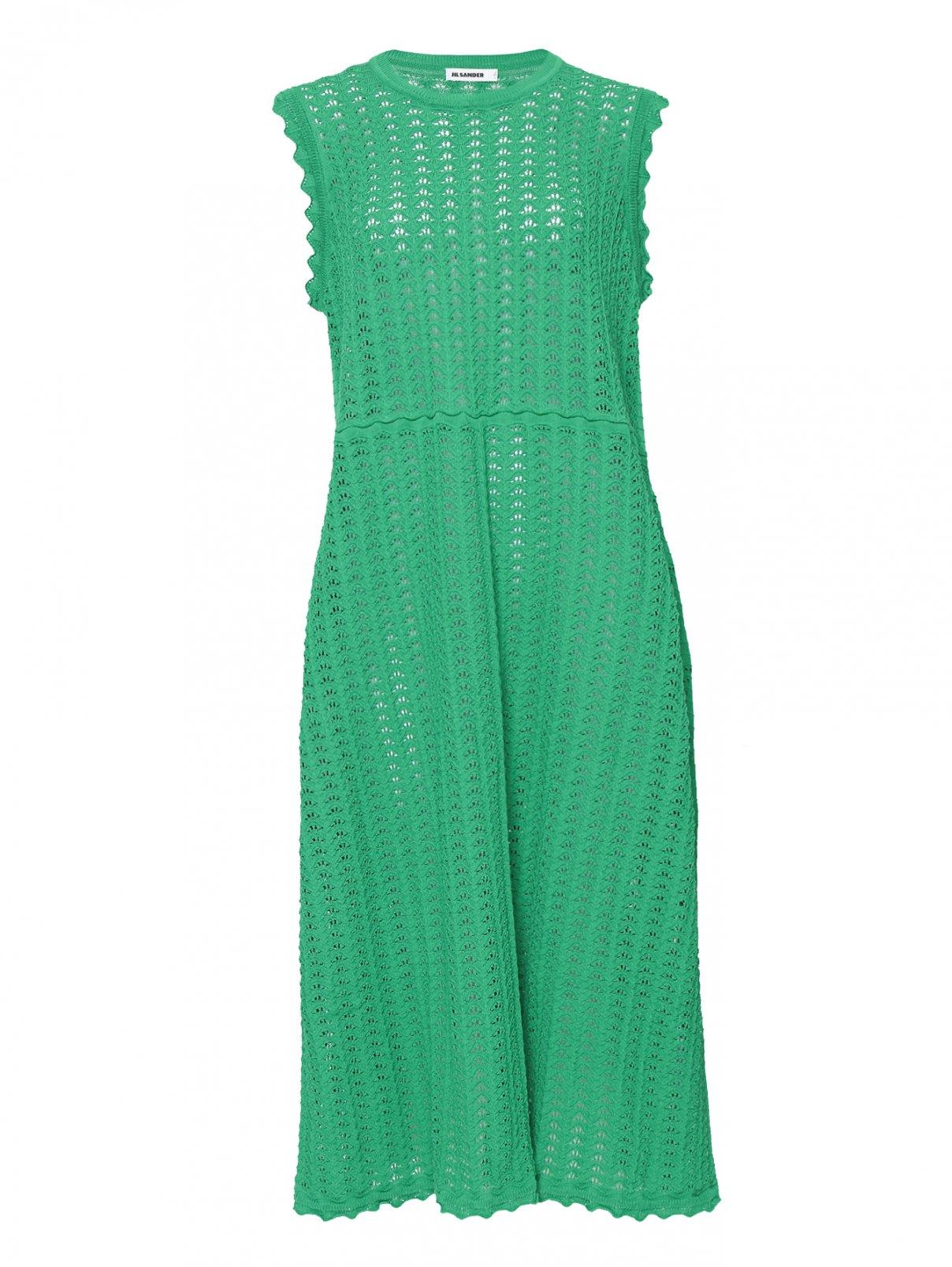 Платье из хлопка свободного кроя без рукавов Jil Sander  –  Общий вид