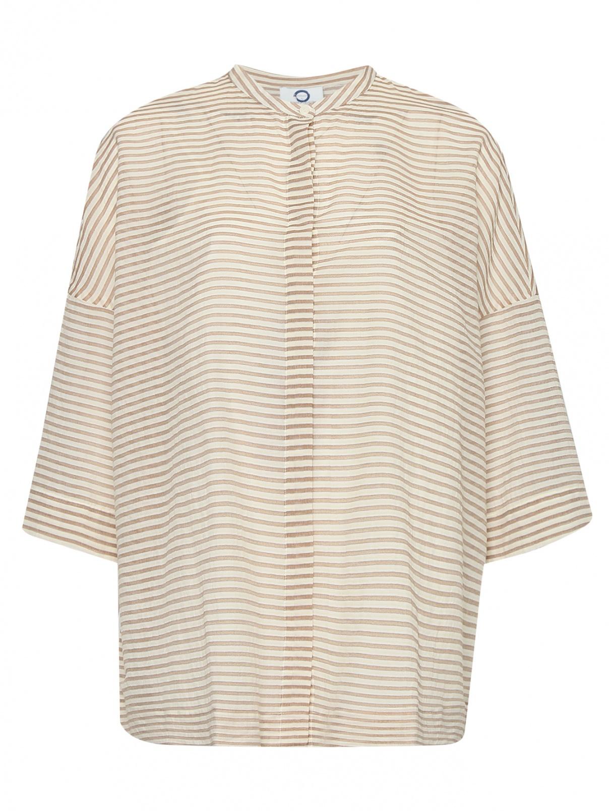 Блуза из хлопка с узором полоска Marina Rinaldi  –  Общий вид
