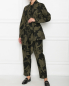 Куртка из хлопка и вискозы с узором Marina Rinaldi  –  МодельОбщийВид