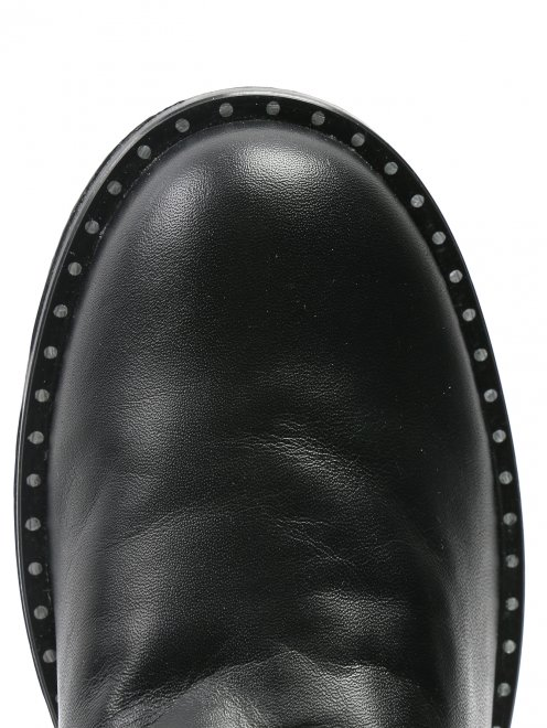 Ботинки из кожи на молнии - Обтравка3