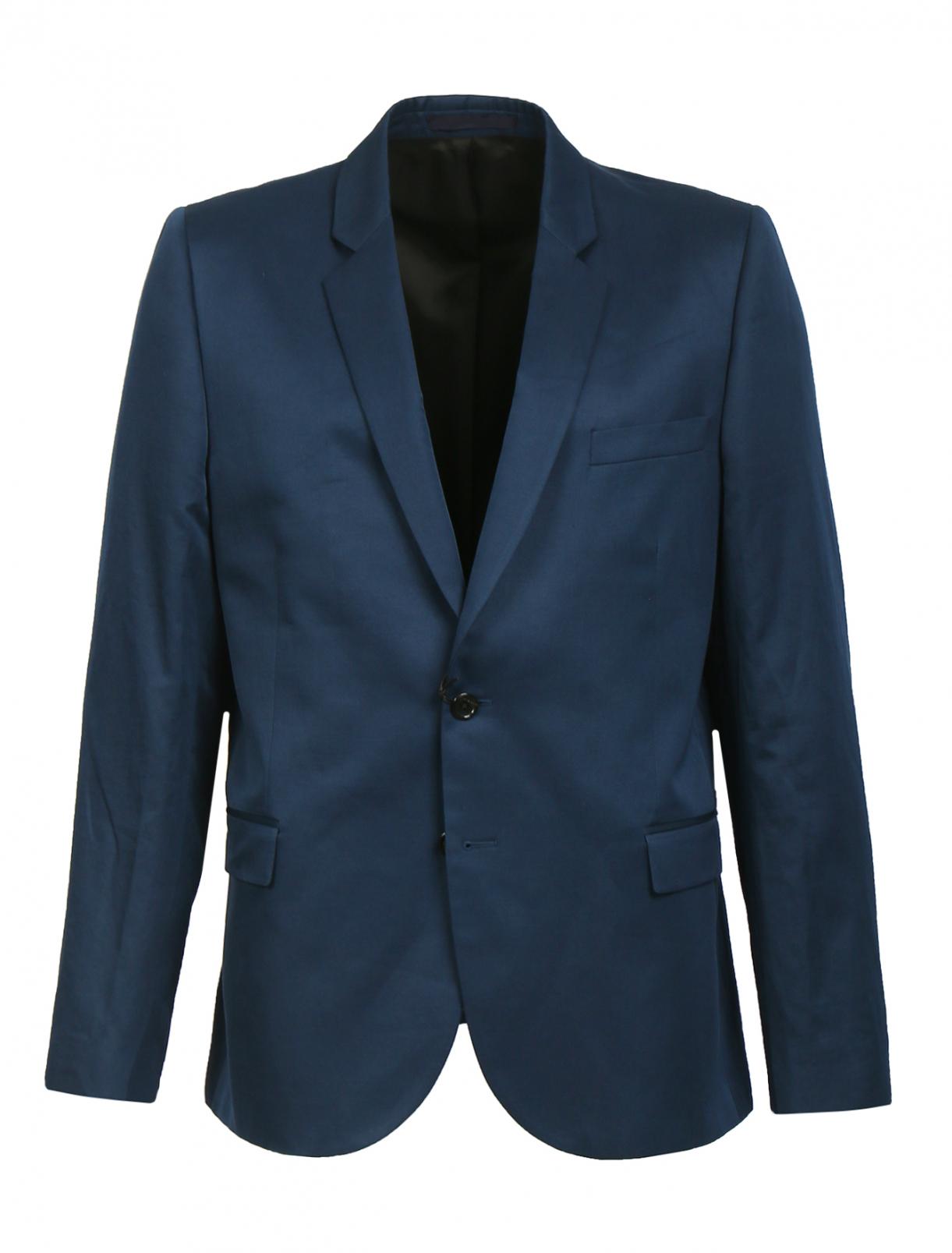Однобортный пиджак из хлопка и льна Paul Smith  –  Общий вид