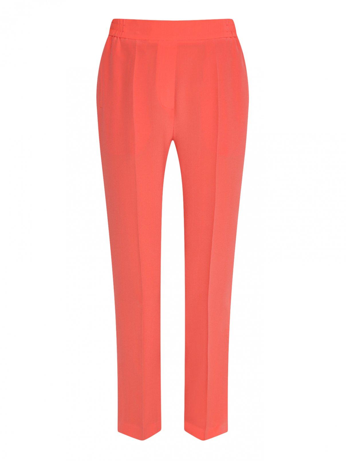 Укороченные брюки на резинке из шелка Etro  –  Общий вид