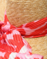 Соломенная шляпа с контрастным платком Ermanno Scervino  –  Деталь1