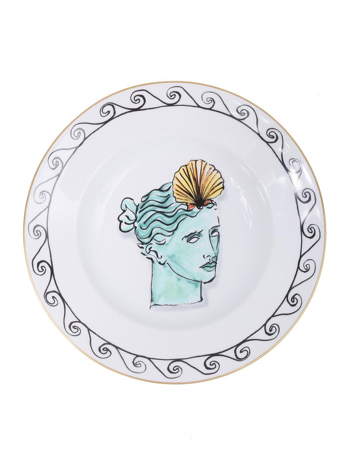 Тарелка суповая с орнаметом и узором Richard Ginori 1735  –  Общий вид