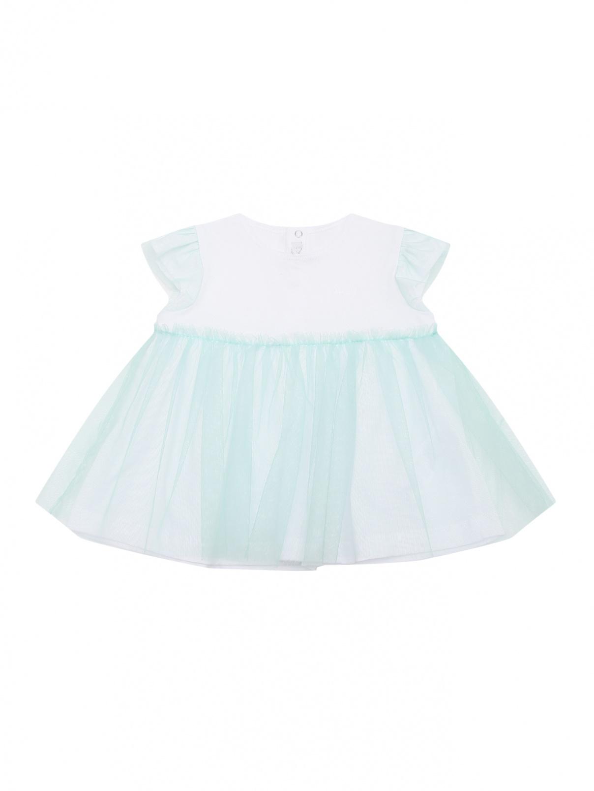 Платье трикотажное с юбкой-пачкой Il Gufo  –  Общий вид