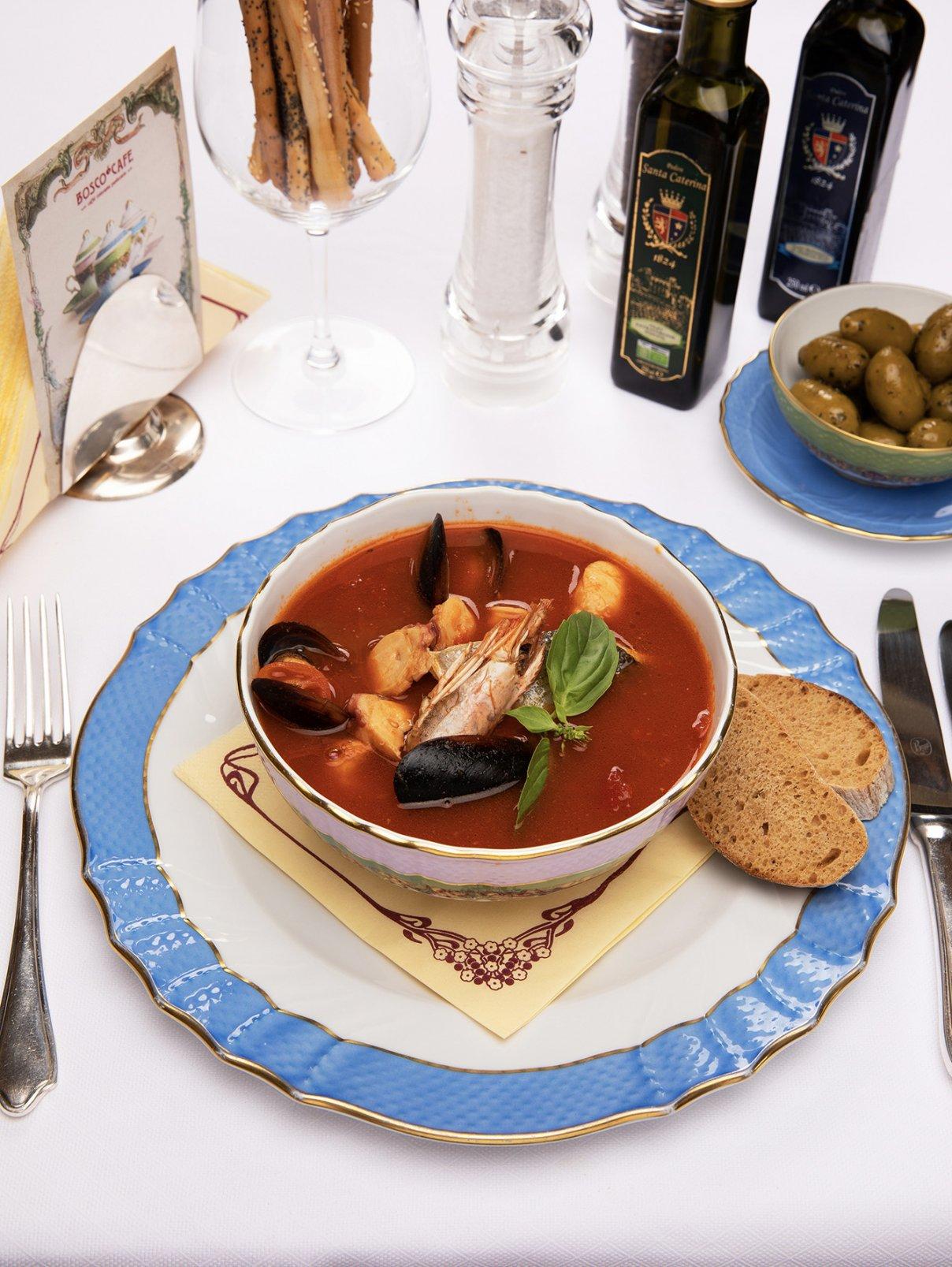Средиземноморский суп BoscoCafe  –  Общий вид