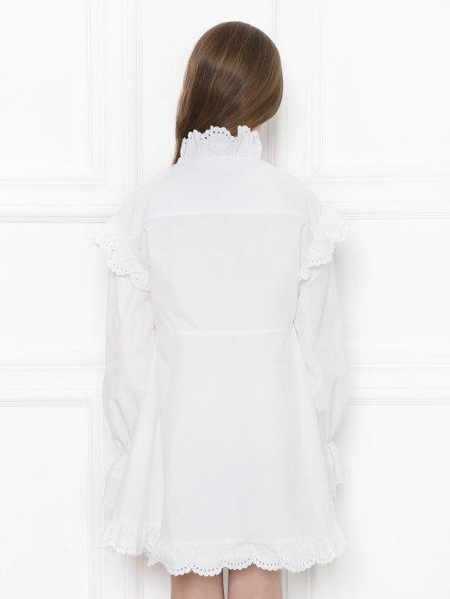 Платье-мини с объемными рукавами - МодельВерхНиз1