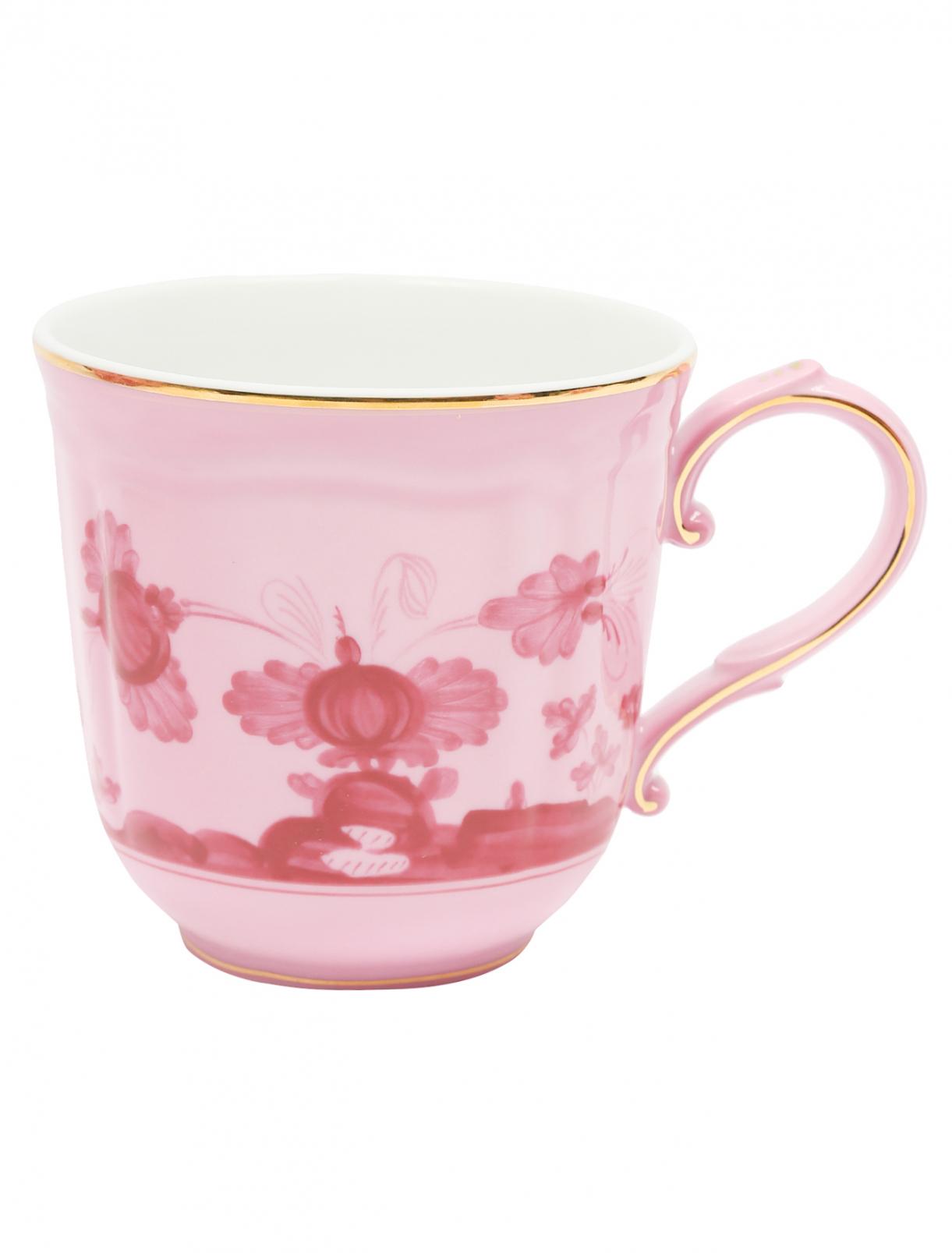 Чайная чашка из фарфора с узором и золотой окантовкой Richard Ginori 1735  –  Общий вид