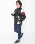 Бомбер кожаный с контрастными вставками MSGM  –  МодельОбщийВид