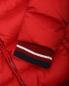 Укороченный пуховик с контрастной аппликацией и капюшоном из меха енота Bosco Fresh  –  Деталь1