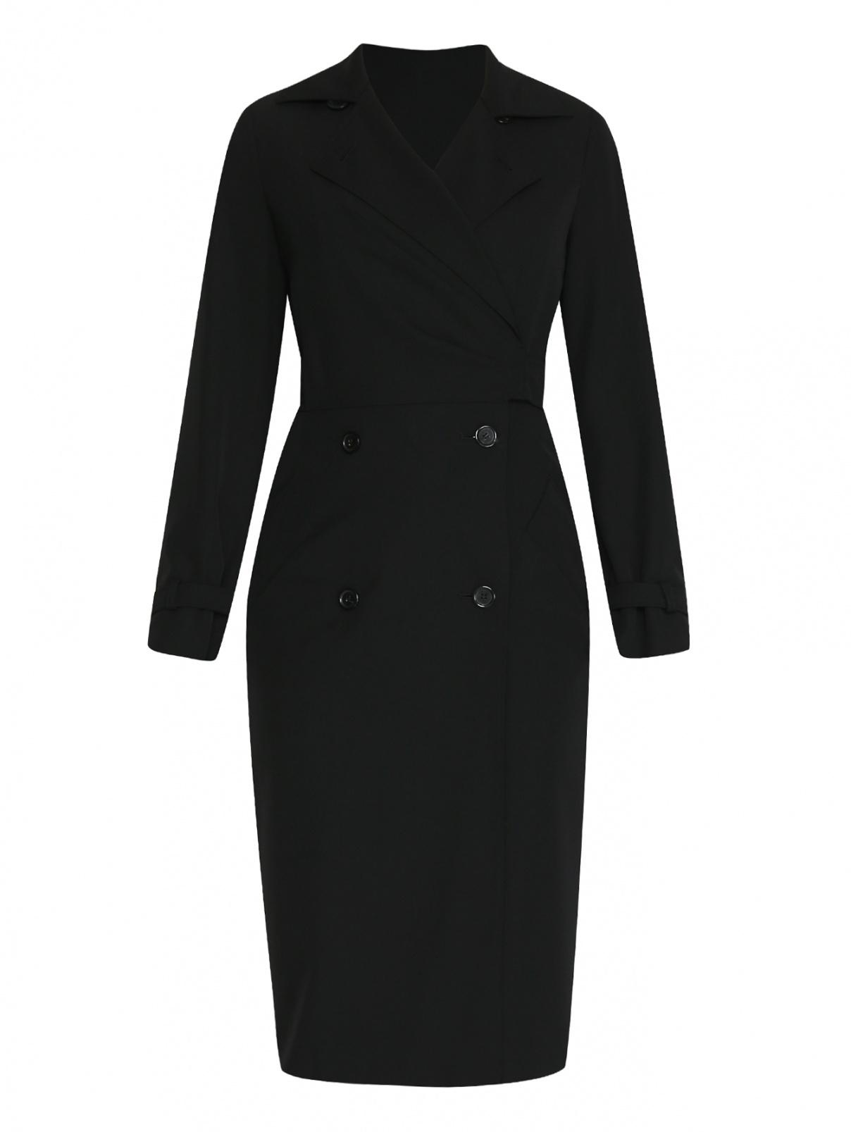 Платье из шерсти двубортное Max Mara  –  Общий вид