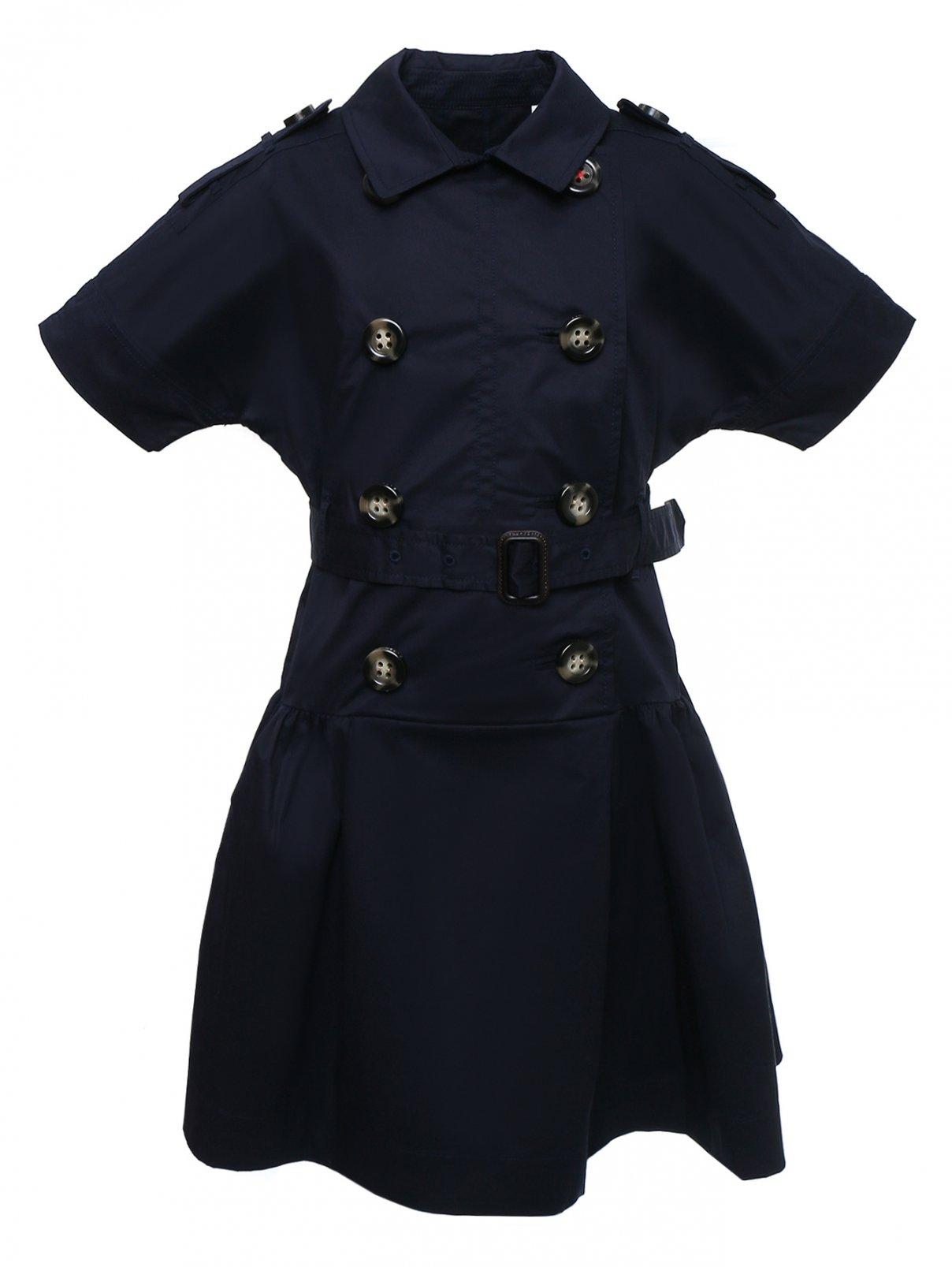 Платье-рубашка с поясом Burberry  –  Общий вид