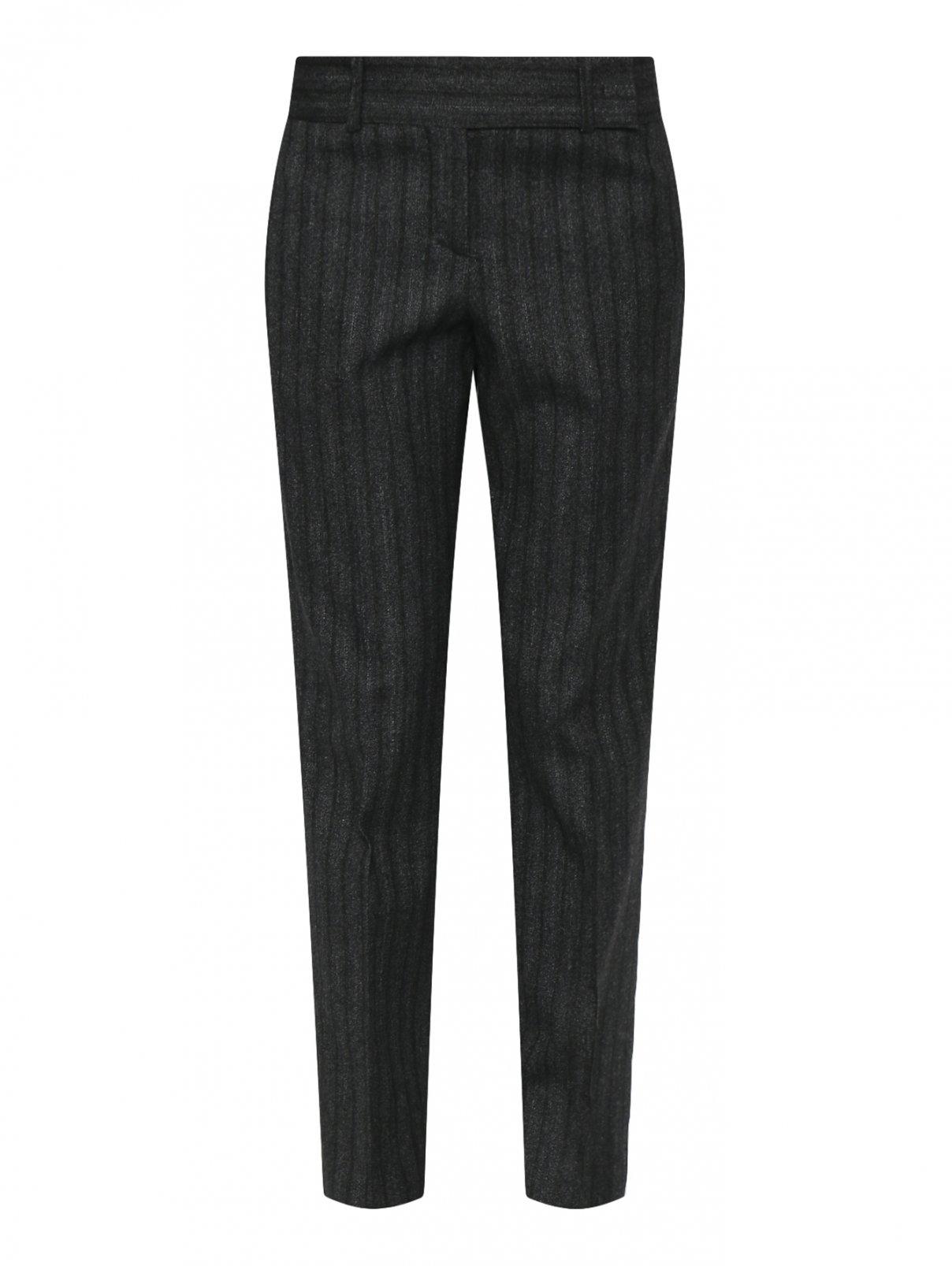 Укороченные брюки из шерсти в полоску Ermanno Scervino  –  Общий вид