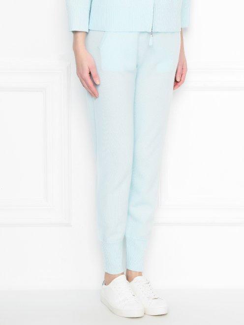 Трикотажные брюки из кашемира на резинке - МодельВерхНиз