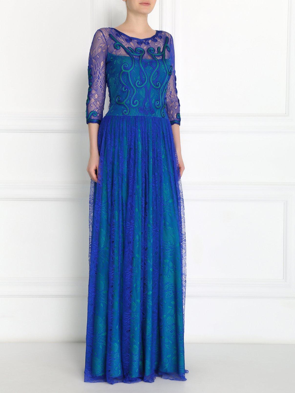 Платье-макси с узором VELOUDAKIS  –  Модель Общий вид