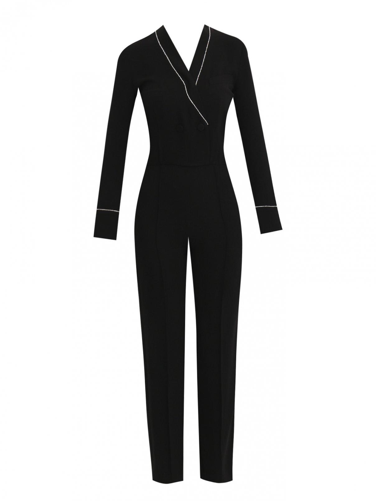 Комбинезон прямого силуэта с отделкой стразами Mo&Co  –  Общий вид