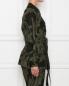 Куртка из хлопка и вискозы с узором Marina Rinaldi  –  МодельВерхНиз2