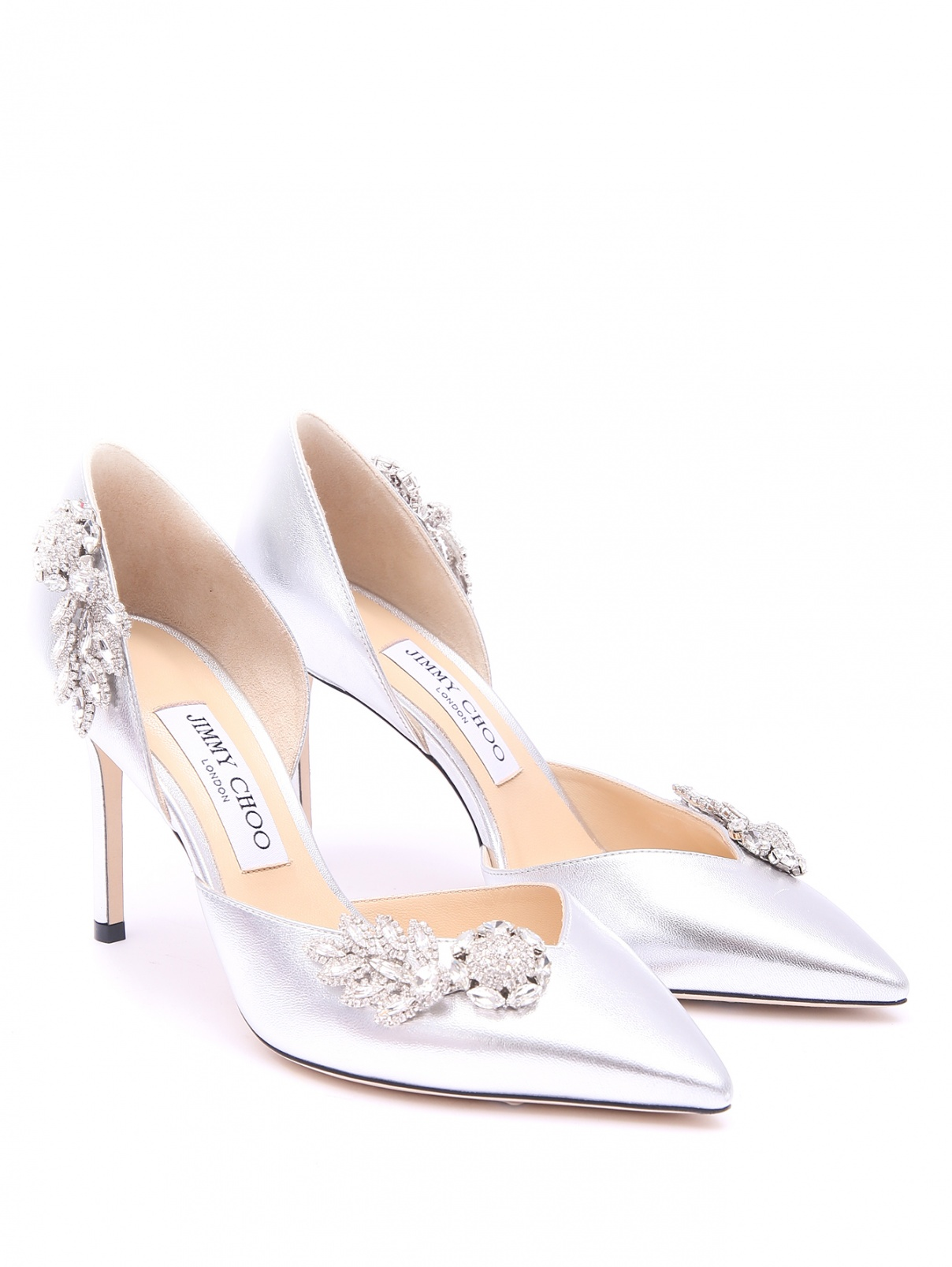 Туфли из кожи декорированные кристаллами Jimmy Choo  –  Общий вид