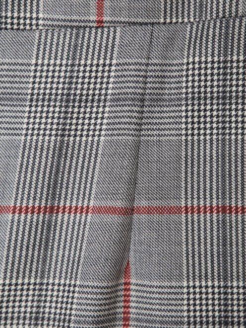 Юбка из шерсти с узором и контрастной отделкой - Деталь