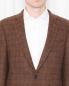 """Пиджак однобортный из шерсти с узором """"клетка"""" Brooks Brothers  –  МодельОбщийВид1"""