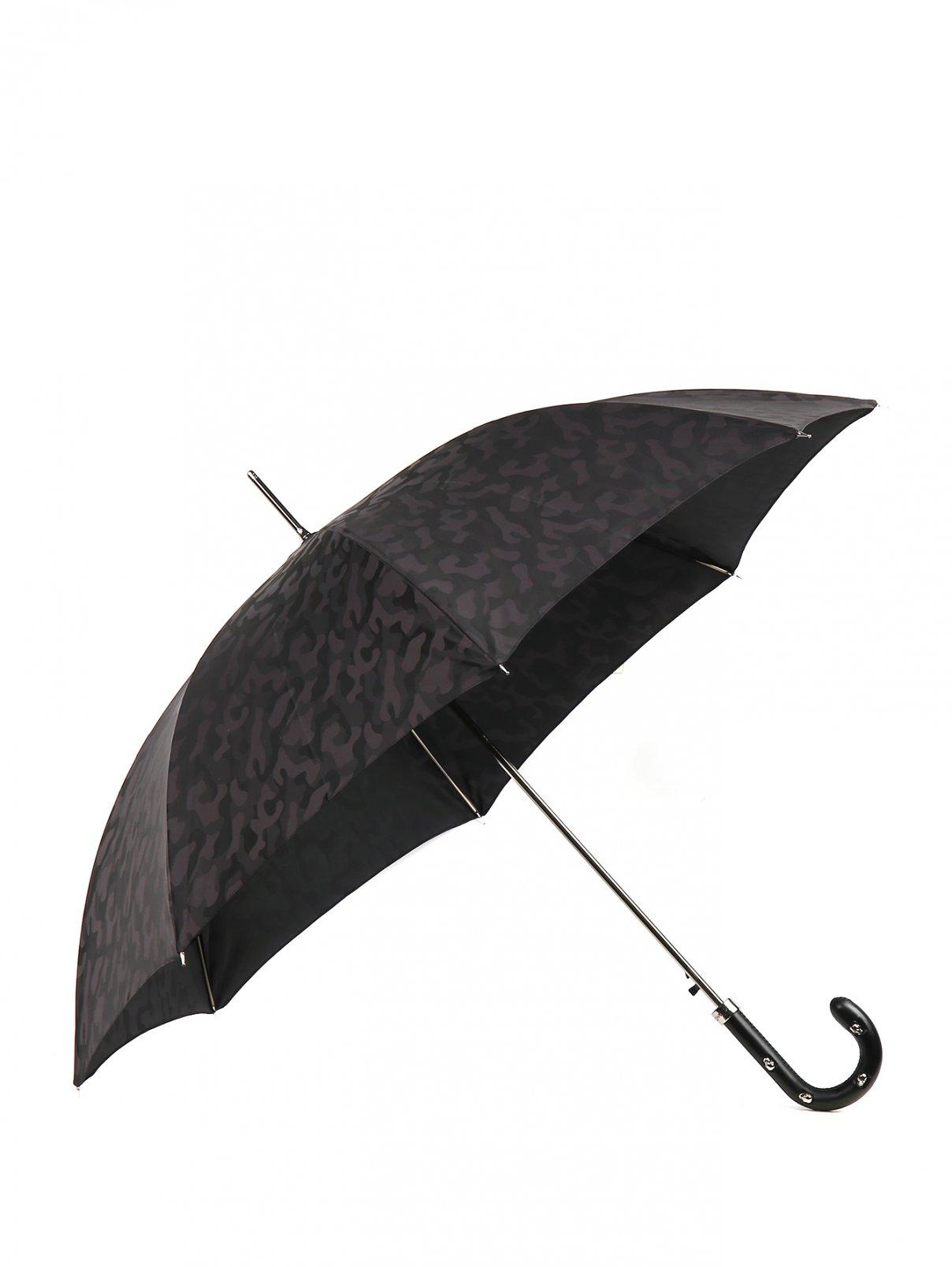 Зонт-трость с кожаной ручкой Pasotti  –  Общий вид
