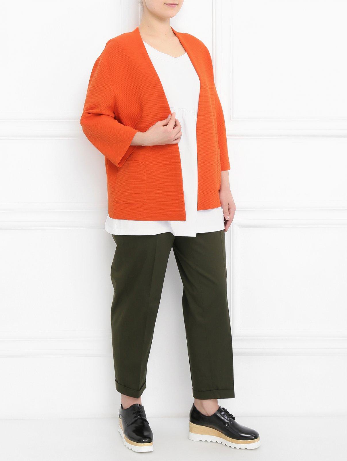 Кардиган с накладными карманами Marina Rinaldi  –  Модель Общий вид