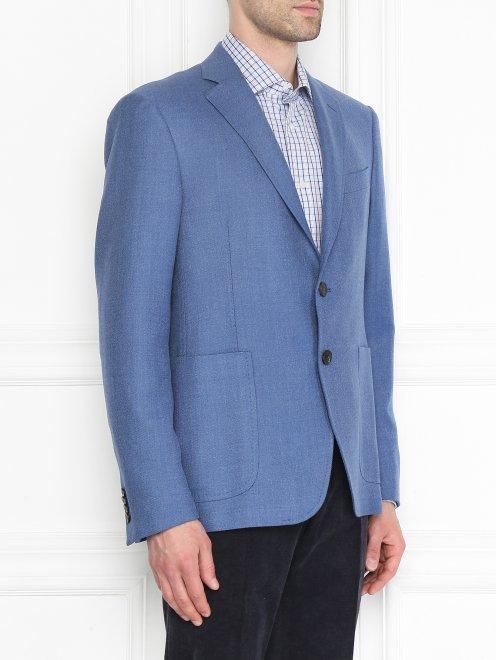 Пиджак из смешанной шерсти  - МодельВерхНиз