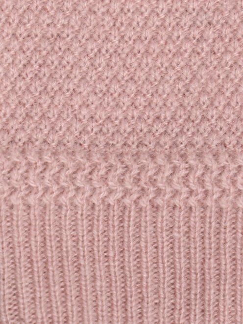 Кардиган фактурной вязки из кашемира - Деталь1
