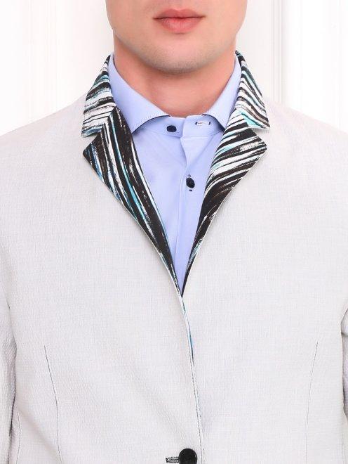 Пиджак двусторонний из хлопка с узором - Модель Общий вид1