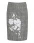 Юбка из смешанной шерсти с узором и принтом Moschino Boutique  –  Общий вид