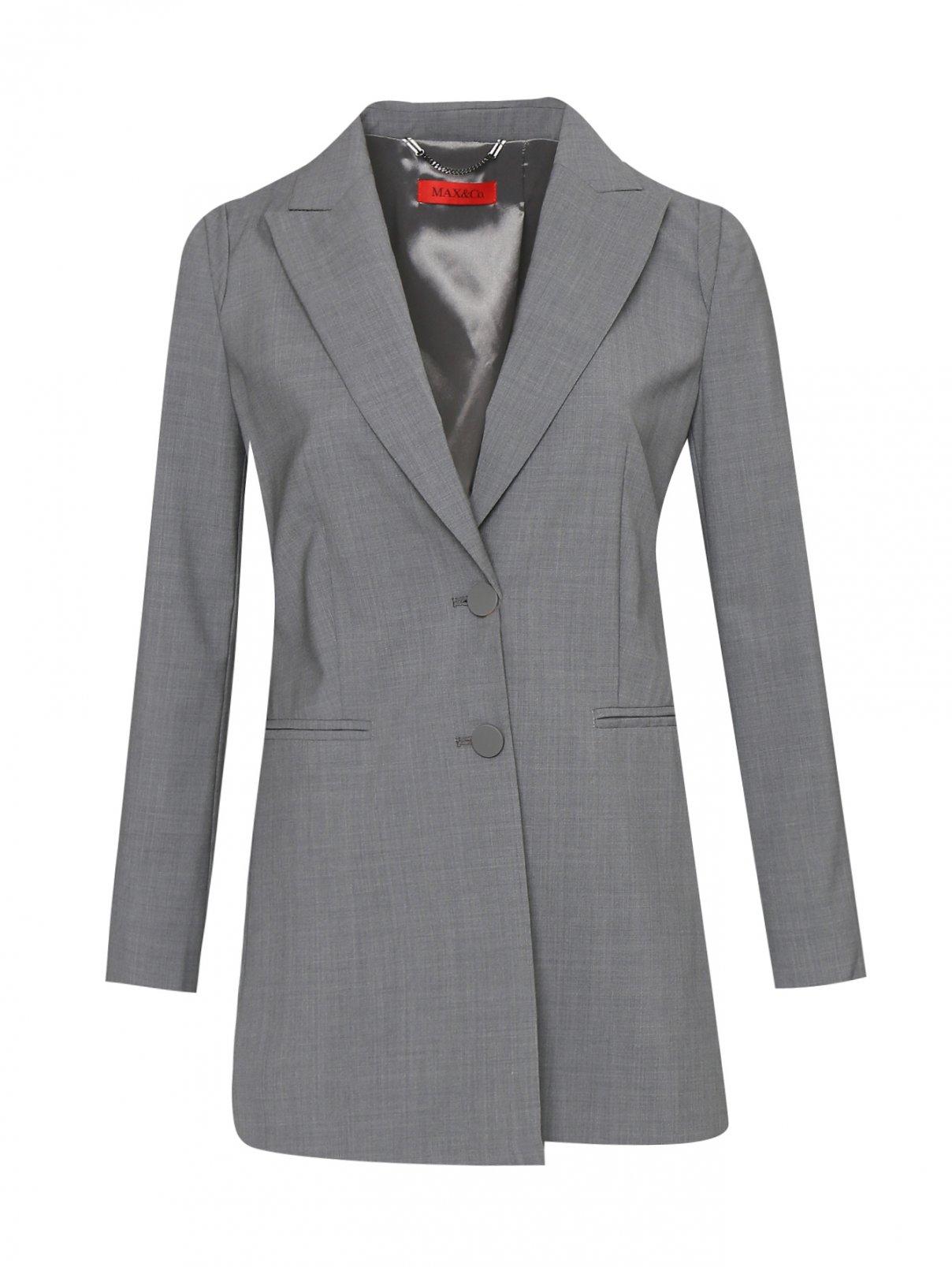 Жакет из шерсти с подплечниками Max&Co  –  Общий вид