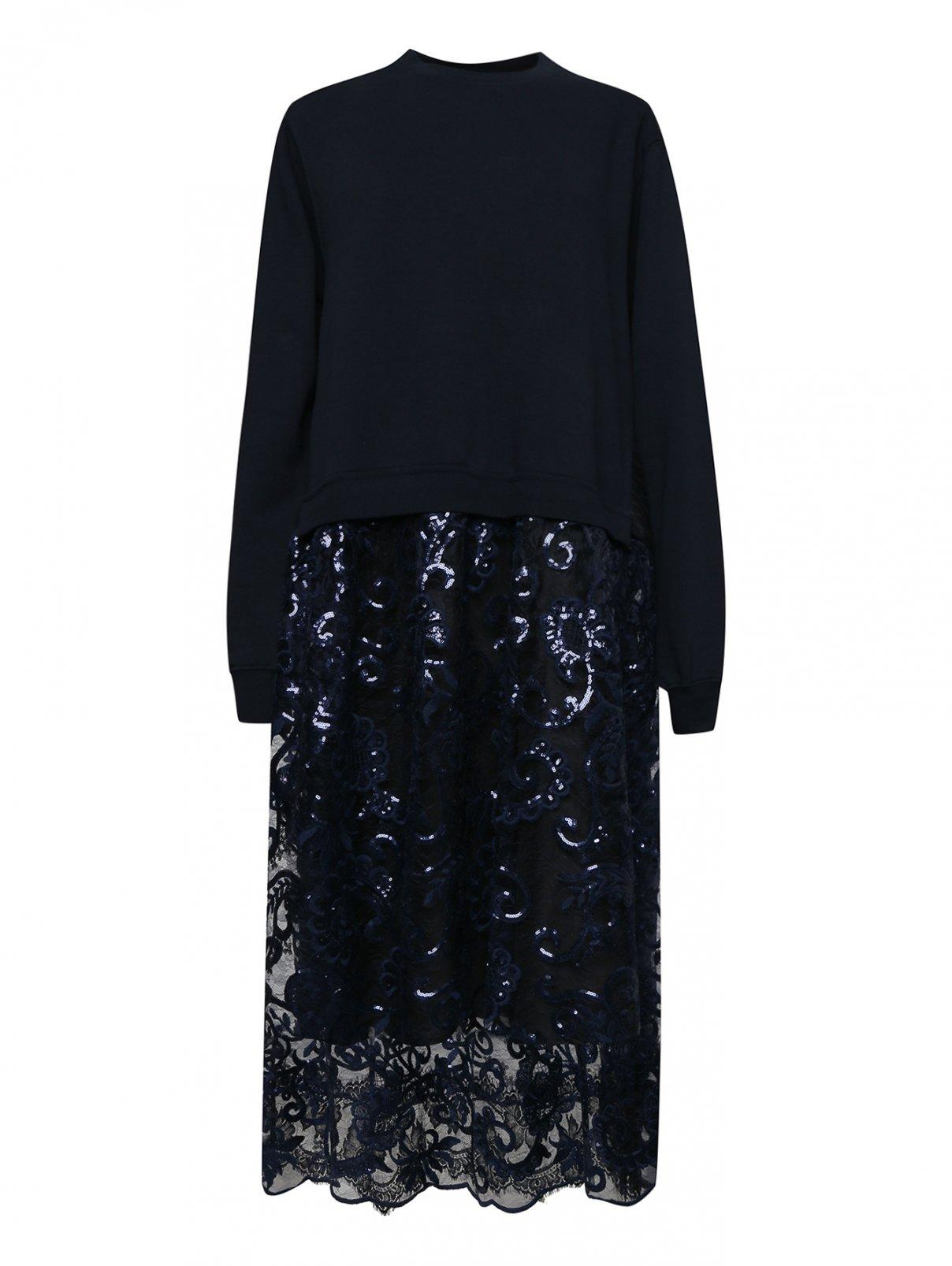 Платье с кружевом и стразами Antonio Marras  –  Общий вид